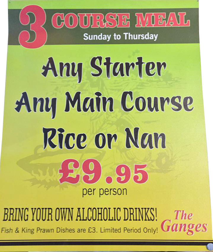 3 Course Meal Special Offer